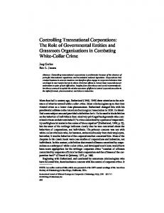 Controlling Transnational Corporations: The Role of ... - CiteSeerX