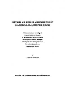 controls and rates of acid production in commercial-scale ... - Core