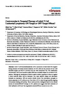 Controversies in Targeted Therapy of Adult T Cell ... - Semantic Scholar