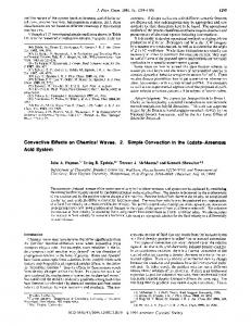 Convective Effects on Chemical Waves. 2. Simple ... - ACS Publications