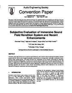 Convention Paper - ATC LABS