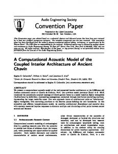 Convention Paper - CCRMA - Stanford University