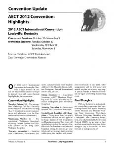 Convention Update AECT 2012 Convention: Highlights - Springer Link