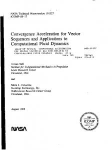 Convergence Acceleration for Vector Sequences and Applications to ...