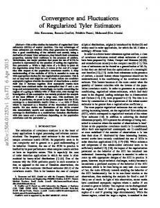 Convergence and Fluctuations of Regularized Tyler Estimators
