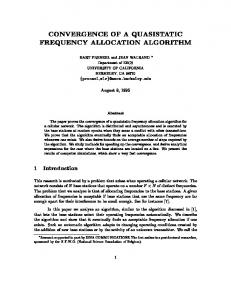 convergence of a quasistatic frequency allocation algorithm