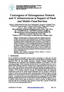Convergence of Heterogeneous Network and IT ... - IEEE Xplore