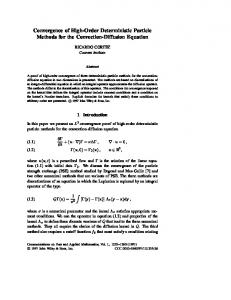 Convergence of High-Order Deterministic Particle Methods for the