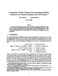 Convergence of locally divergence-free discontinuous ... - CiteSeerX