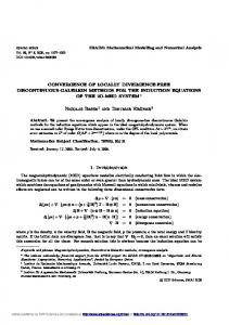 Convergence of locally divergence-free discontinuous-Galerkin ...