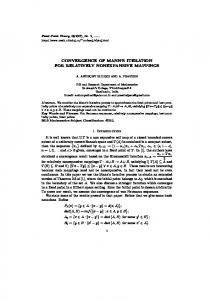 convergence of mann's iteration for relatively ...
