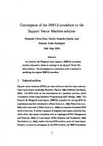 Convergence of the IRWLS procedure to the Support Vector Machine ...