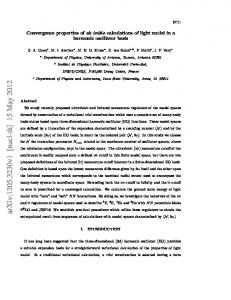 Convergence properties of {\itshape ab initio} calculations of light ...