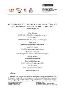 convergence to the european energy policy in european ... - MRU
