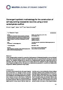 Convergent synthetic methodology for the ... - Semantic Scholar