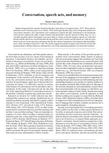 Conversation, speech acts, and memory - Springer Link