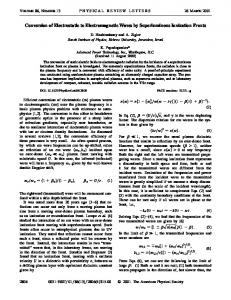 Conversion of Electrostatic to Electromagnetic Waves by ...