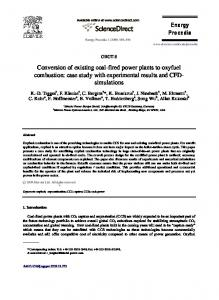 Conversion of existing coal-fired power plants to oxyfuel combustion