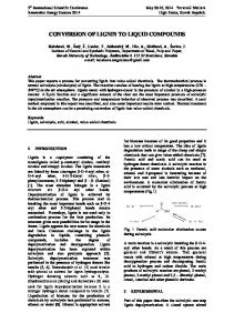 conversion of lignin to liquid compounds