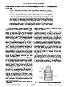 Conversion of mechanical work to interfacial tension in a ... - Yu Qiao