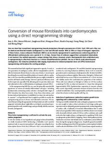 Conversion of mouse fibroblasts into cardiomyocytes ... - Gwern.net