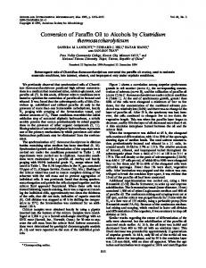Conversion of Paraffin Oil to Alcohols by Clostridium ...