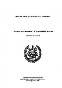 Converter interactions in VSC-based HVDC systems - Chalmers ...