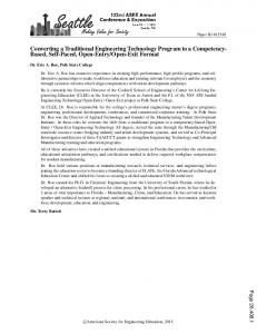 Converting a Traditional Engineering Technology ... - Asee peer