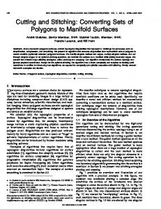 converting sets of polygons to manifold surfaces - TAUBIN GROUP ...