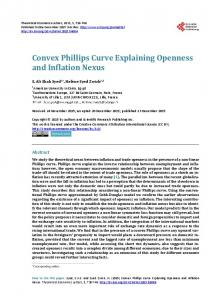 Convex Phillips Curve Explaining Openness and Inflation Nexus