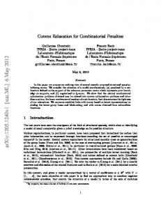 Convex Relaxation for Combinatorial Penalties