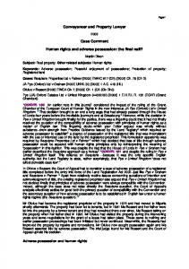 Conveyancer and Property Lawyer Case Comment ... - SSRN papers