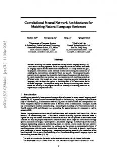 Convolutional Neural Network Architectures for Matching Natural ...