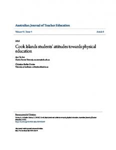 Cook Islands students' attitudes towards physical ... - Research Online