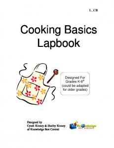 Cooking Basics Lapbook - Rainbow Resource Center