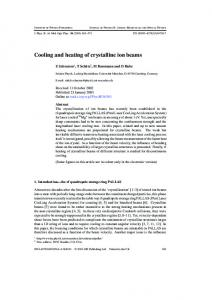 Cooling and heating of crystalline ion beams - Semantic Scholar