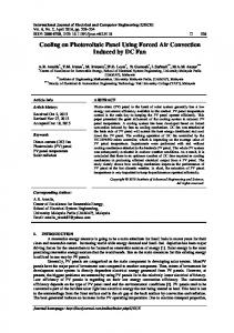 Cooling on Photovoltaic Panel Using Forced Air ... - IAES Core