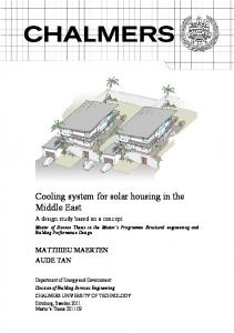 Cooling system for solar housing in the Middle East - Chalmers ...