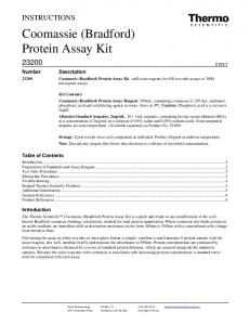 Coomassie (Bradford) Protein Assay Kit - Thermo Fisher Scientific