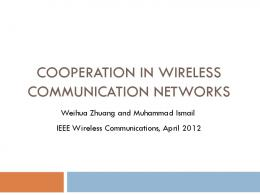 Cooperation in wireless communication networks - Semantic Scholar