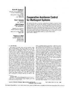 COOPERATIVE AVOIDANCE CONTROL FOR MULTIAGENT ...