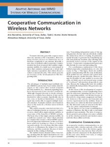 Cooperative communication in wireless networks - Communications ...
