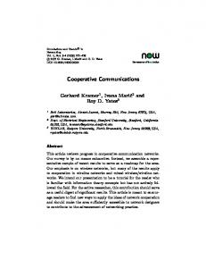 Cooperative Communications - Institute for Communications