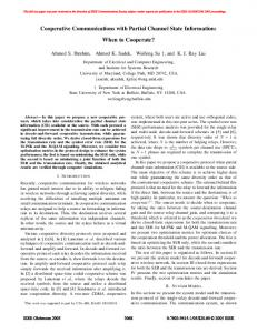Cooperative Communications with Partial Channel ... - cspl.umd.eduhttps://www.researchgate.net/.../Cooperative-communications-with-partial-channel-stat...