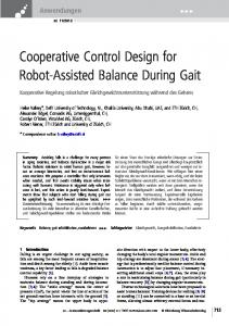Cooperative Control Design for Robot-Assisted ... - Semantic Scholar