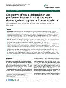 Cooperative effects in differentiation and proliferation ... - BioMedSearch