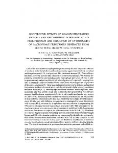 cooperative effects of colonystimulating factor 1 and ... - BioMedSearch