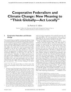 Cooperative Federalism and Climate Change - SSRN