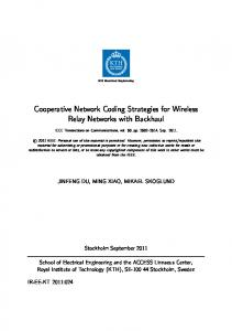 Cooperative Network Coding Strategies for ... - Semantic Scholar