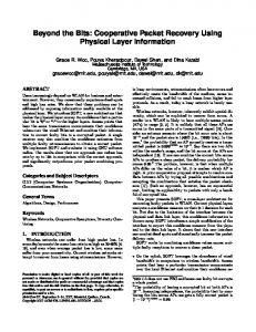 Cooperative Packet Recovery Using Physical Layer Information